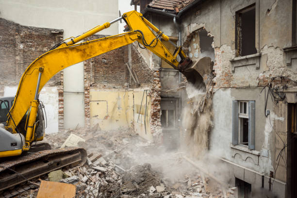 Demolition making place for new building demolishing stock pictures, royalty-free photos & images