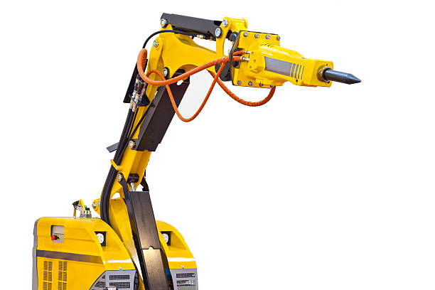 demolition robot isolated on white
