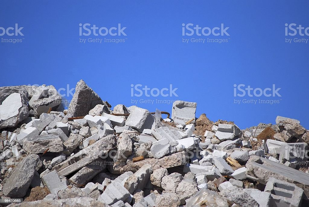Demolition Rubble royalty-free stock photo