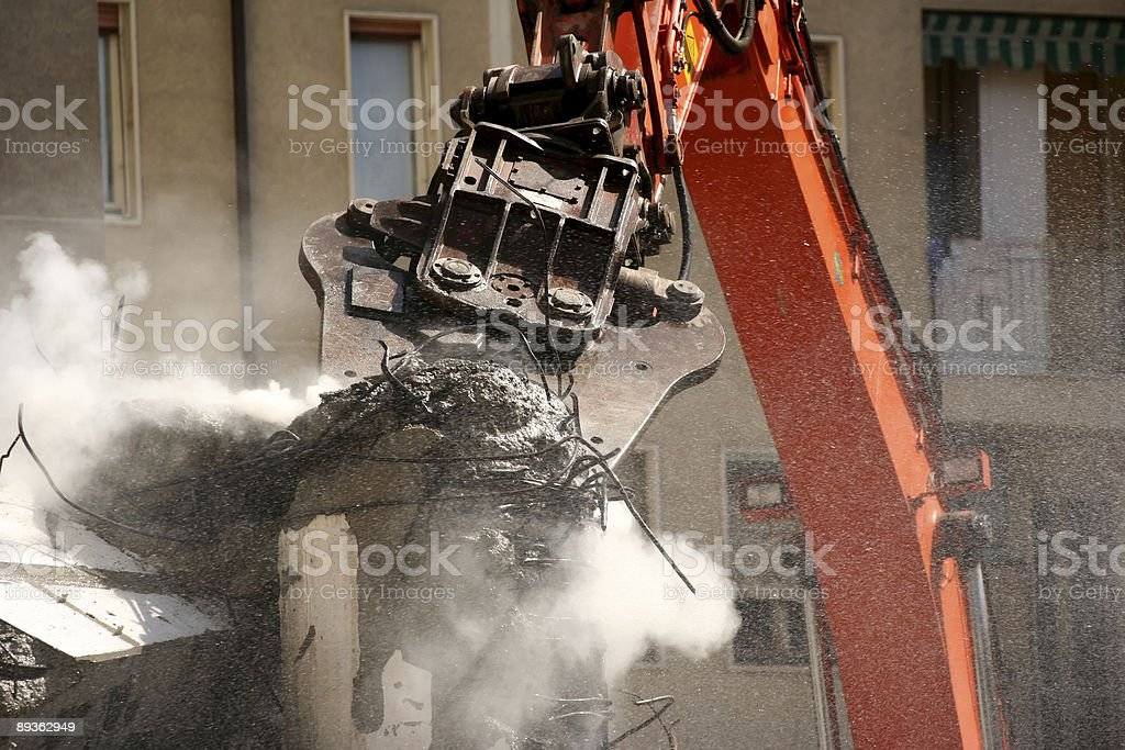 Demolition with brute force royalty-free stock photo