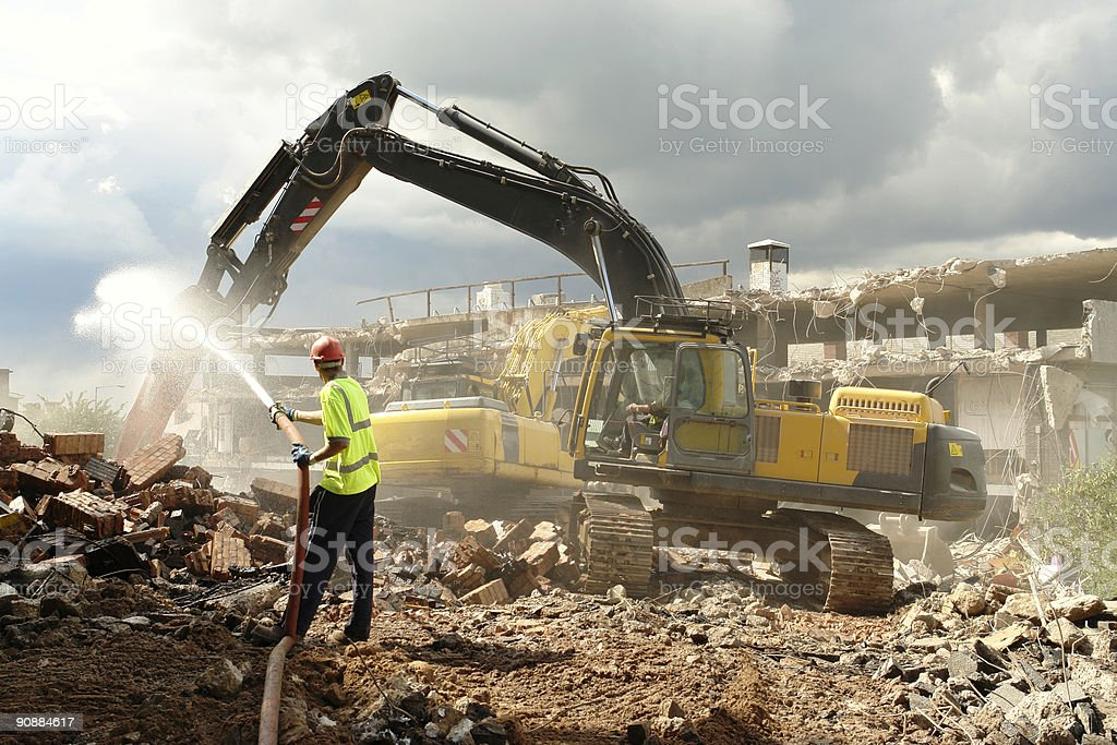Demolition Work. stock photo