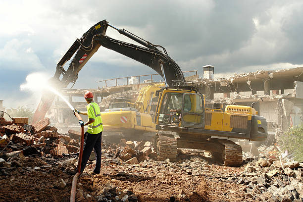 Demolition Work.  demolishing stock pictures, royalty-free photos & images