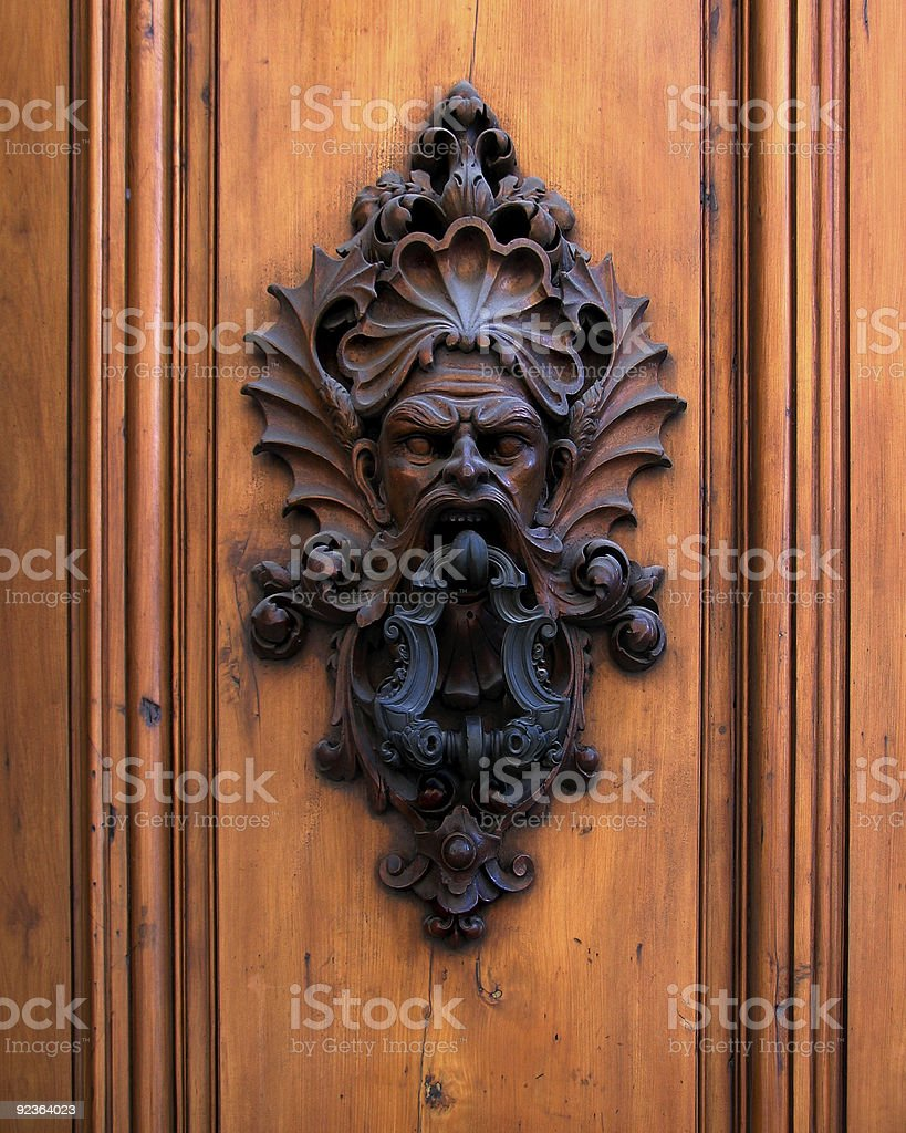 Demon Door Knocker royalty-free stock photo