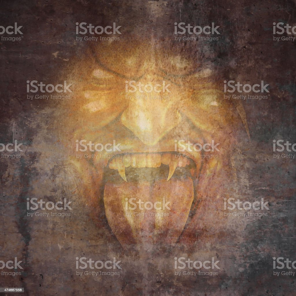 Demon Face stock photo