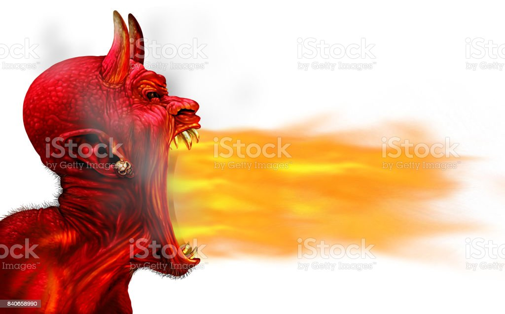 Demon Fire Flame stock photo