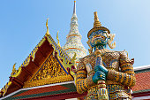 Demon Guardian in Wat Phra Kaew (Temple of the Emerald Buddha), Grand Palace in Bangkok, Thailand