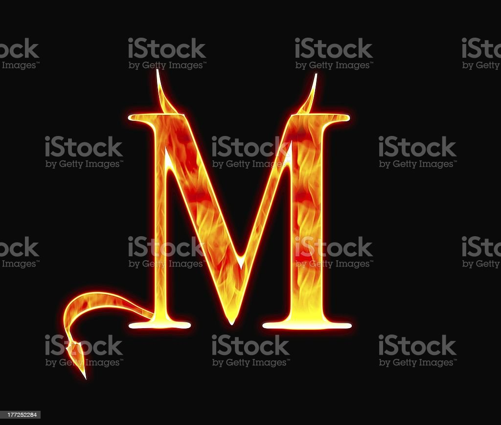 Demon M. stock photo