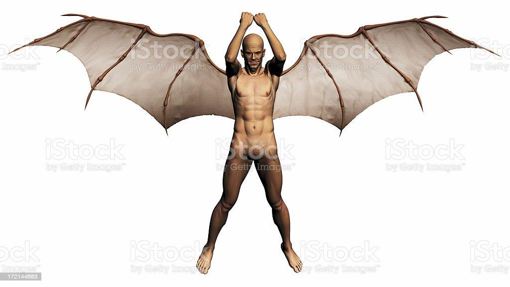 Demon model royalty-free stock photo