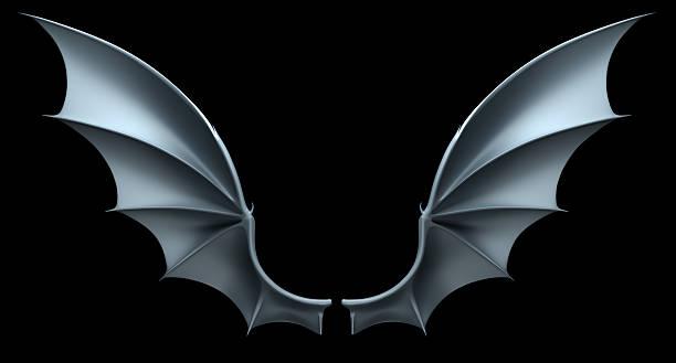 Demon wings stock photo