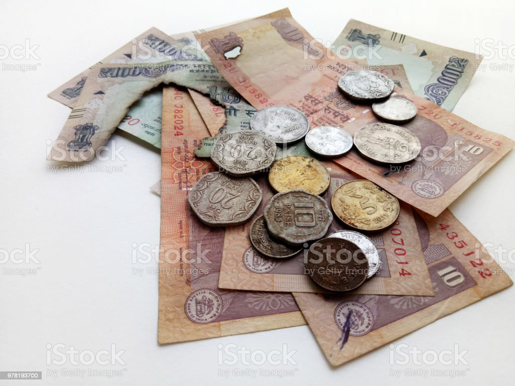 Demonetized Indian Currency stock photo