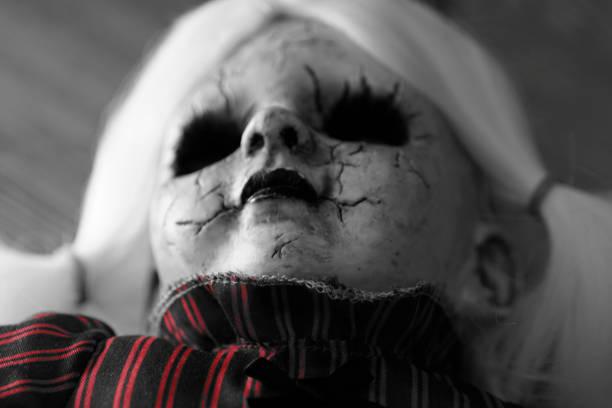 demoniac zombie doll, evil spirit, halloween - demoniac stock pictures, royalty-free photos & images