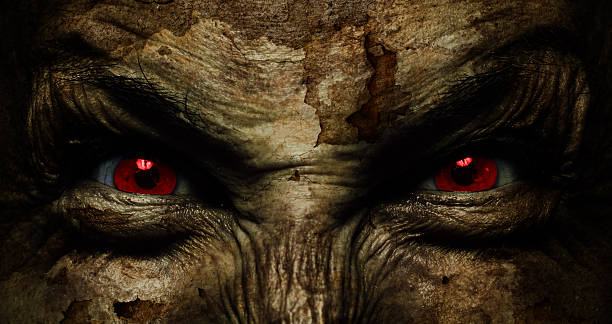 demonic ugly visage - Photo
