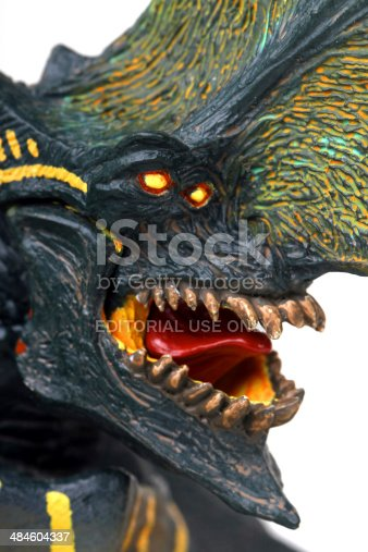 Vancouver, Canada - March 25, 2014: A model of Trespasser, also known as Axehead, a