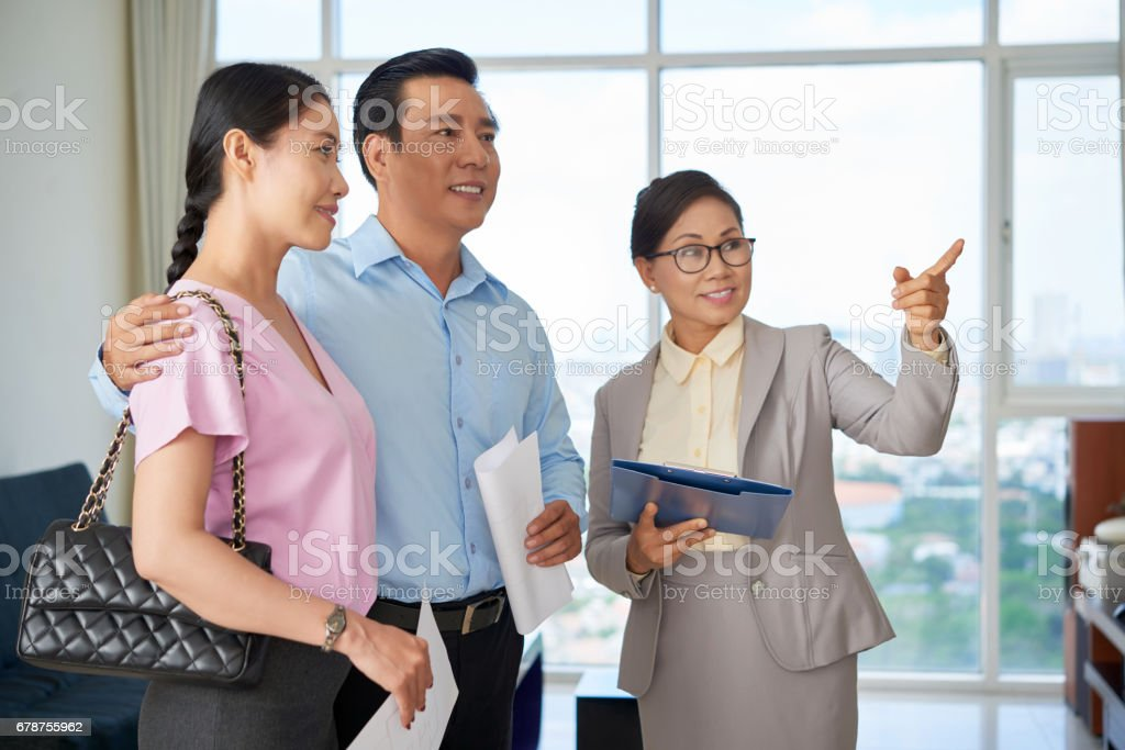 Demonstrating apartment stock photo