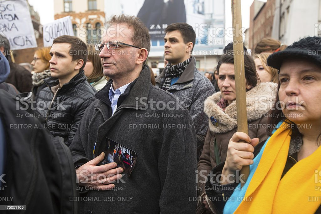 Demonstration against the killing of protesters in Ukraine royalty-free stock photo