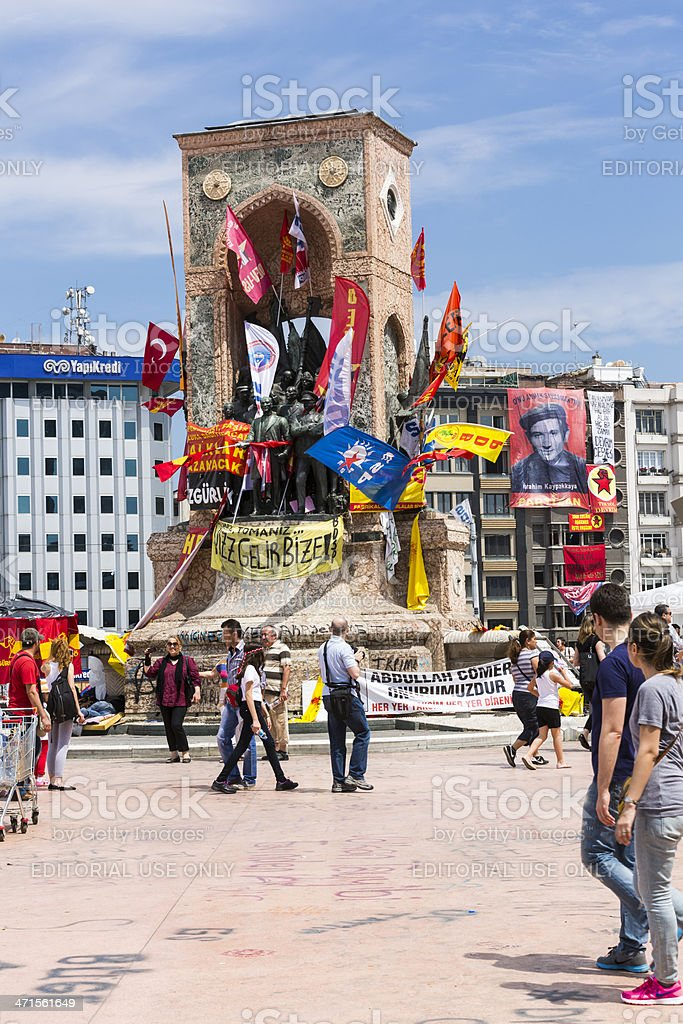 Demonstration at Istanbul for 'Taksim Gezi Park' Turkey stock photo