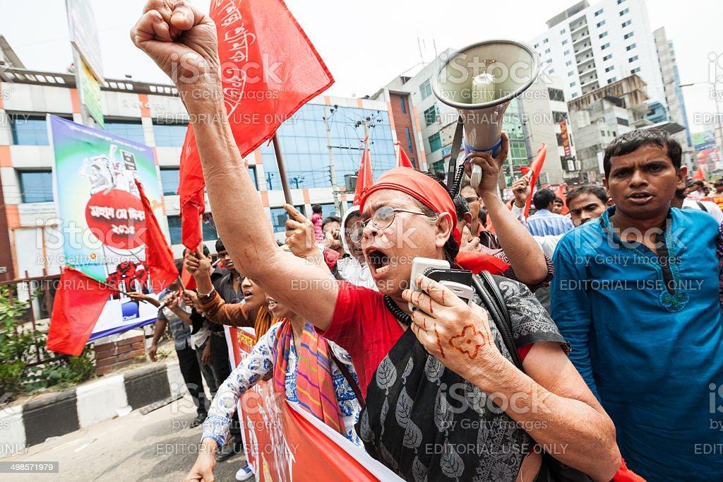 Demonstration Bangladesh stock photo