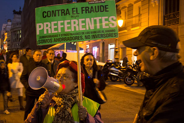 demonstration by protesters who have lost their savings - depositor stock pictures, royalty-free photos & images