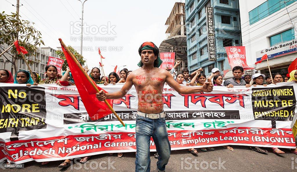 Demonstration Dhaka, Bangladesh stock photo