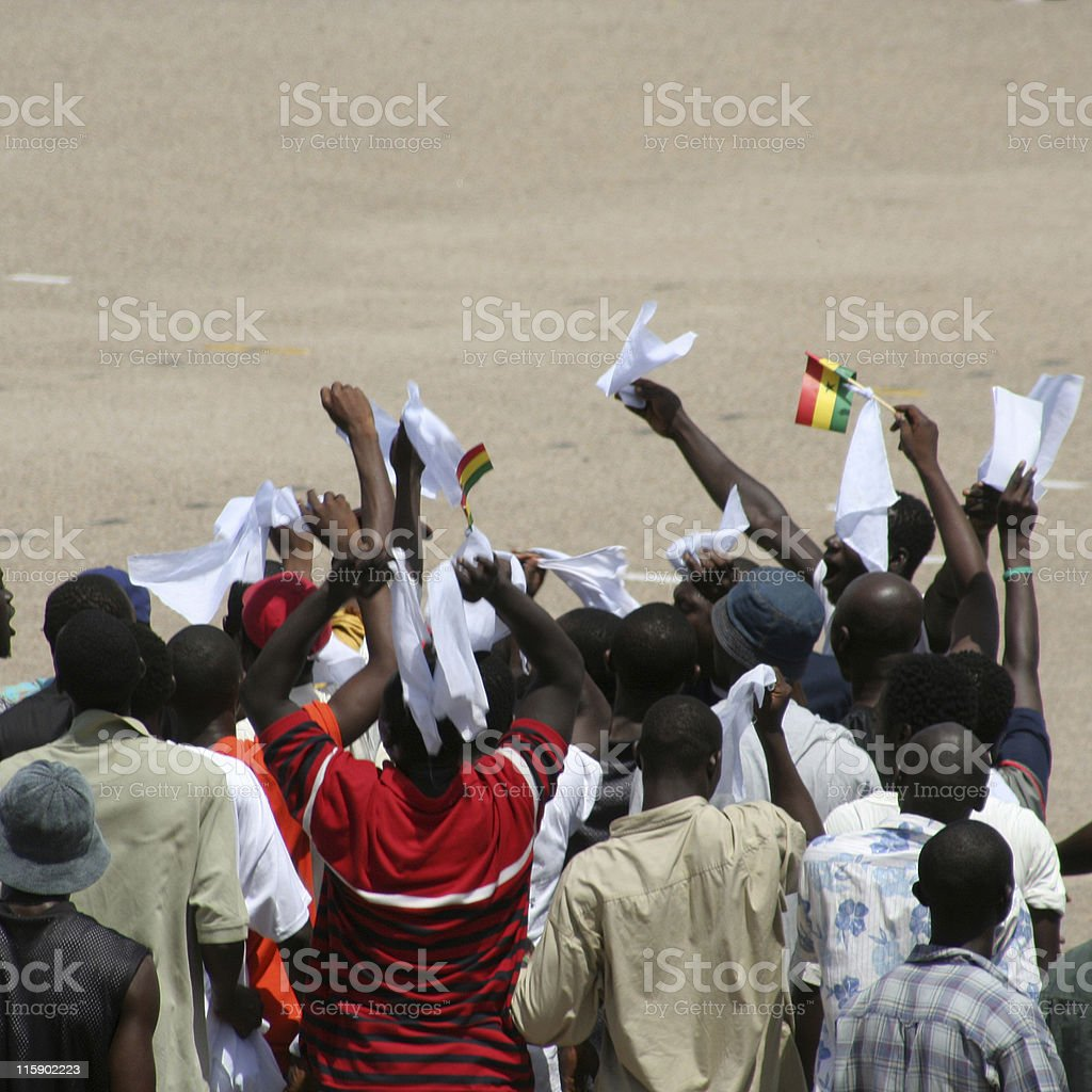demonstration in africa royalty-free stock photo