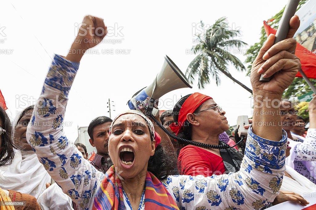 Demonstration in Bangladesh stock photo
