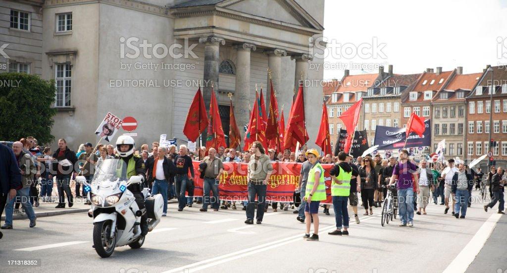 Demonstration in Copenhagen royalty-free stock photo