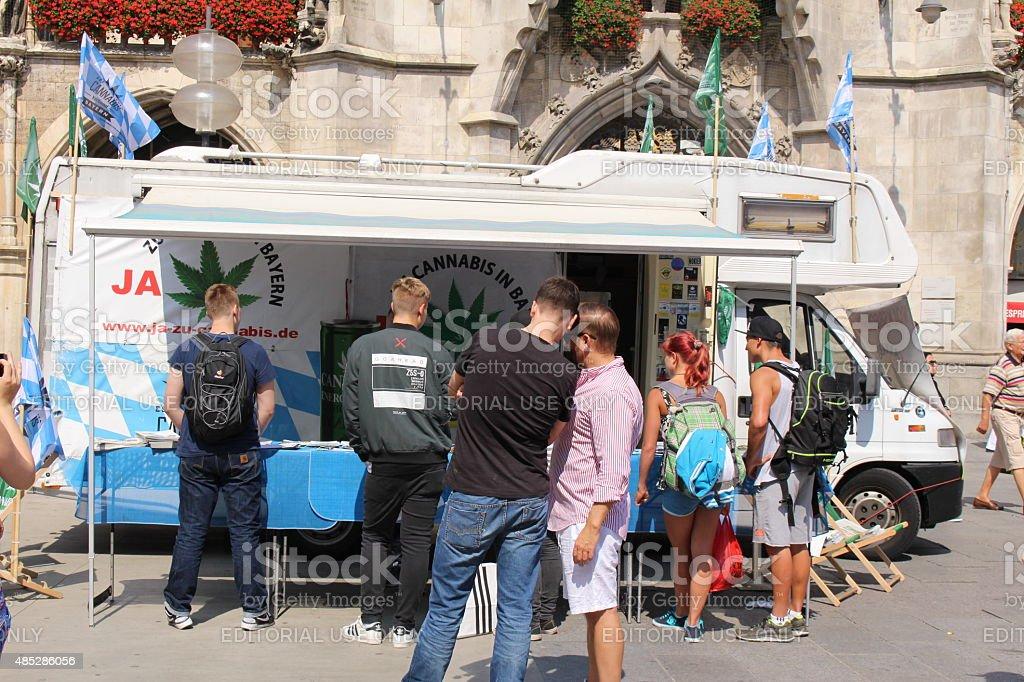 Demonstration in Munich stock photo