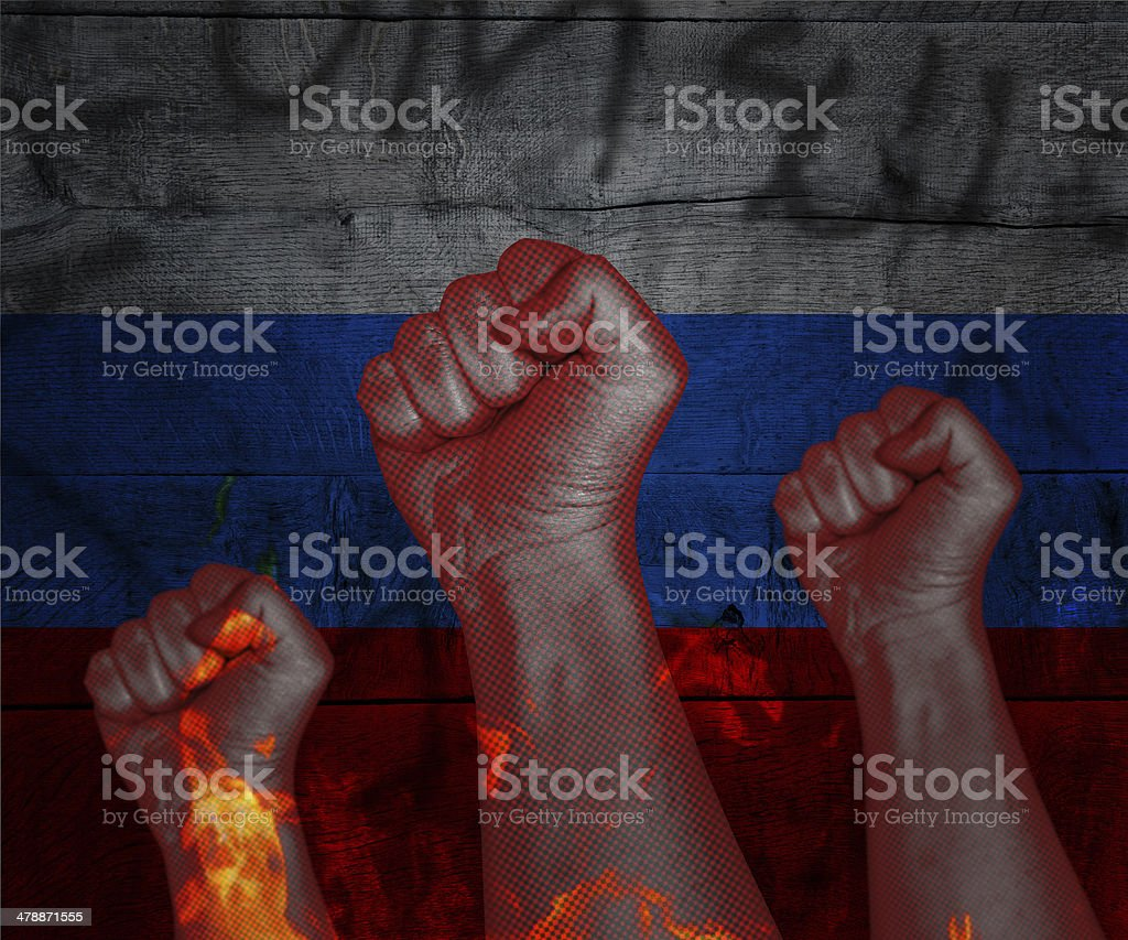 Demonstration in Russia royalty-free stock photo