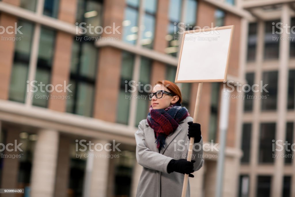 Demonstration of employees stock photo