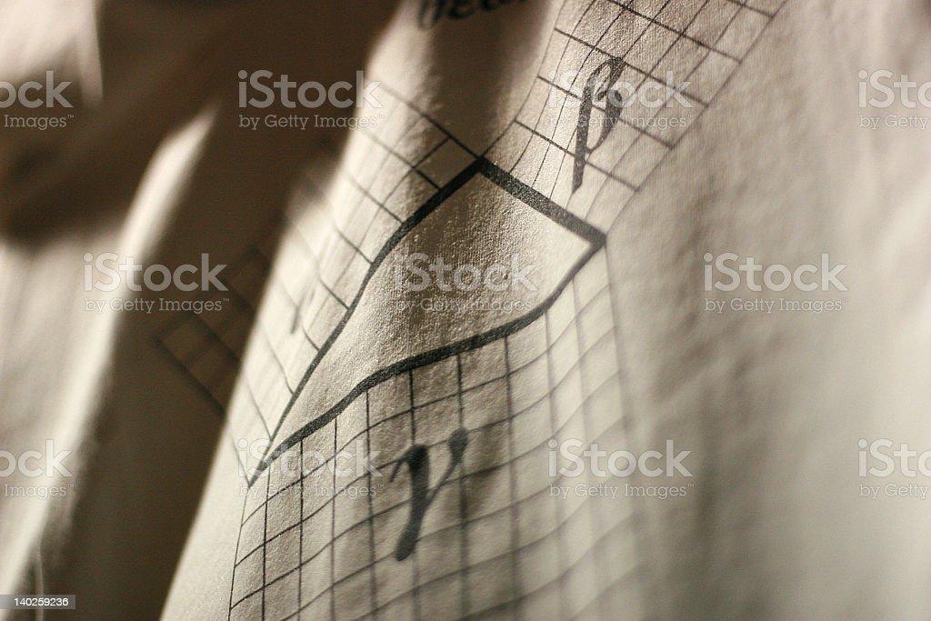 Demonstration - Pythagorean Theorem royalty-free stock photo