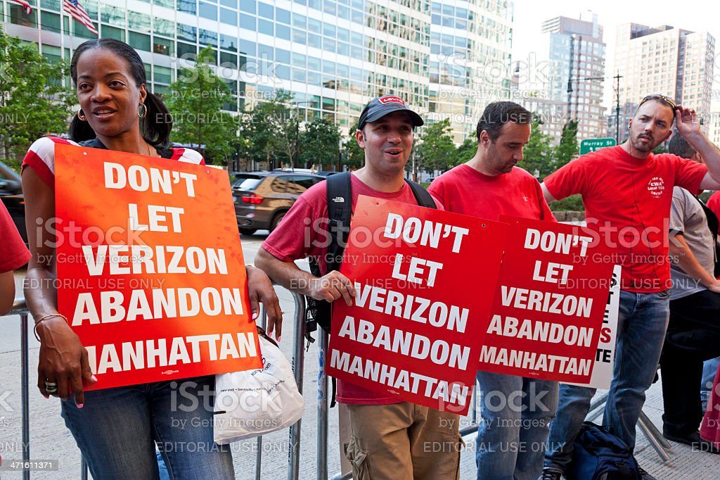 Demonstration Verizon New York City # 2 XXXL royalty-free stock photo