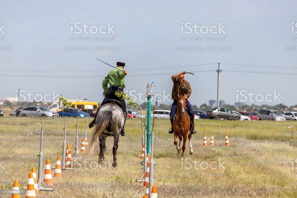 Demonstrations Cossack equestrian sports club with a demonstration of...