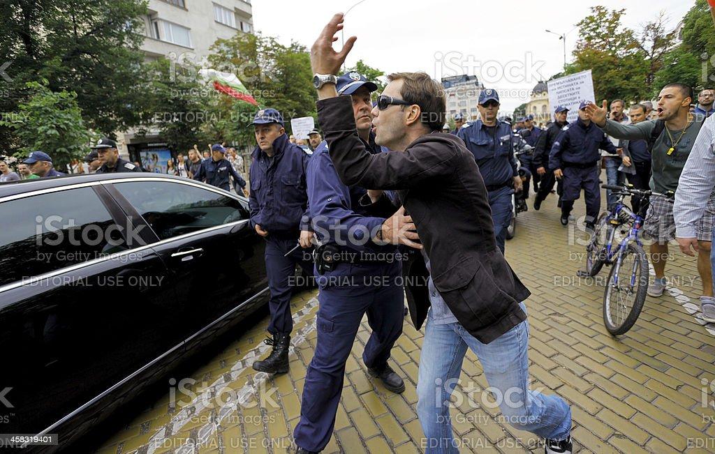demonstrator police 99 percent royalty-free stock photo