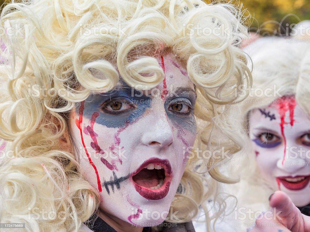 Demonstrators in zombie costume royalty-free stock photo