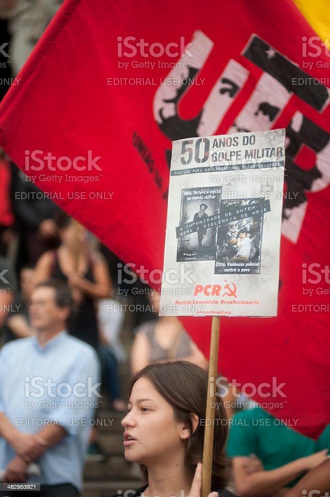 Demonstrators royalty-free stock photo