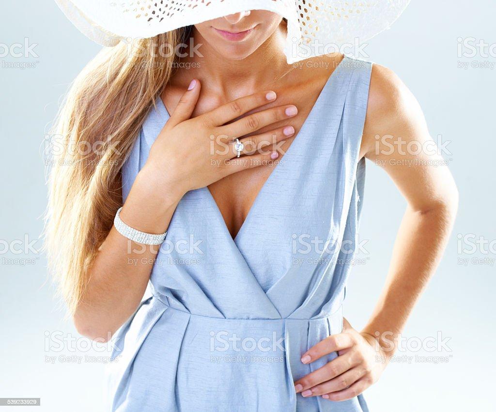 Demure and discreet royalty-free stock photo