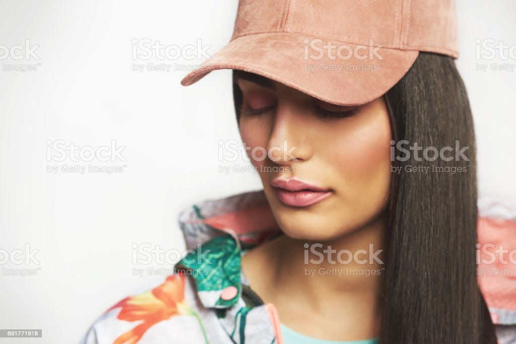 Demure, young Indian woman stock photo