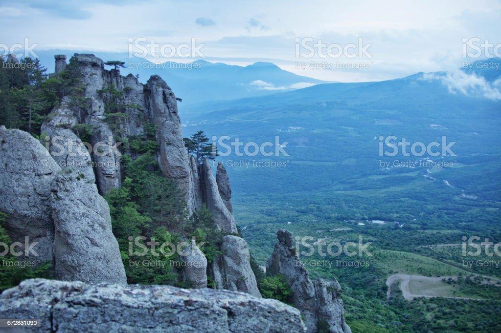 Demurge mountain view. Crimea stock photo