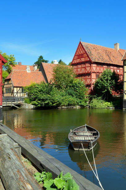 Den Gamle By (The Old Town) stock photo