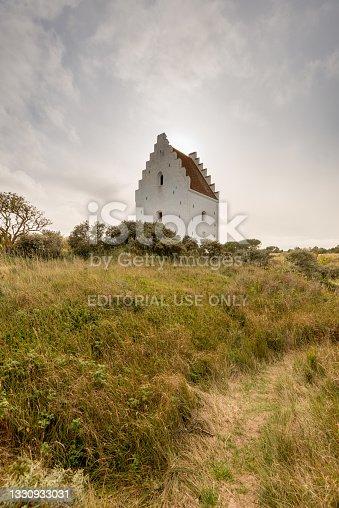 istock Den tilsandede kirke outside Skagen, Sankt Laurentii Kirke.. 1330933031