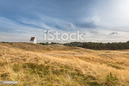 istock Den tilsandede kirke outside Skagen, Sankt Laurentii Kirke.. 1330934395