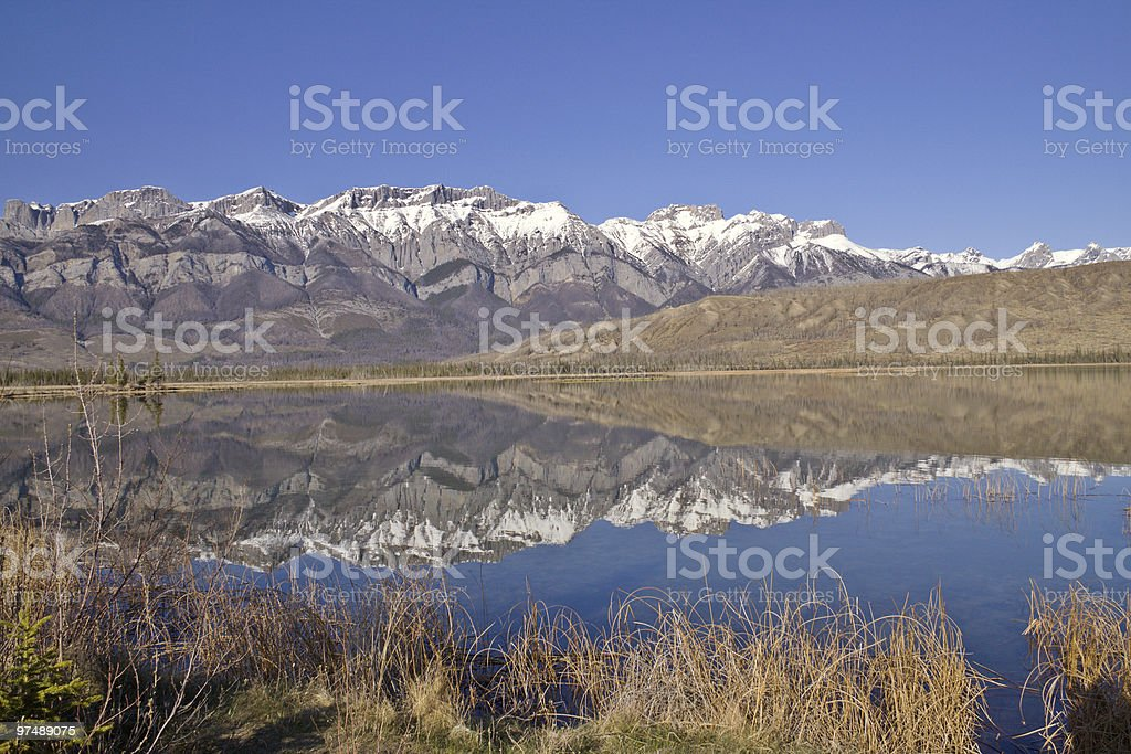 Denali Highway Reflections royalty-free stock photo
