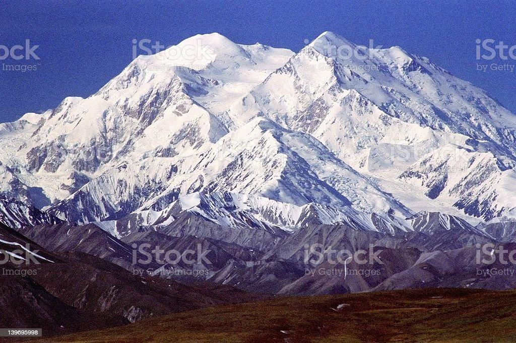 Denali Mountain AK stock photo