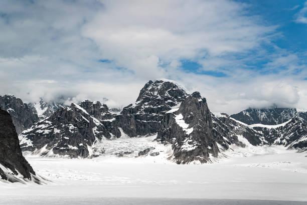 デナリ国立公園 アラスカ氷河ベースキャンプ - ツンドラ ストックフォトと画像