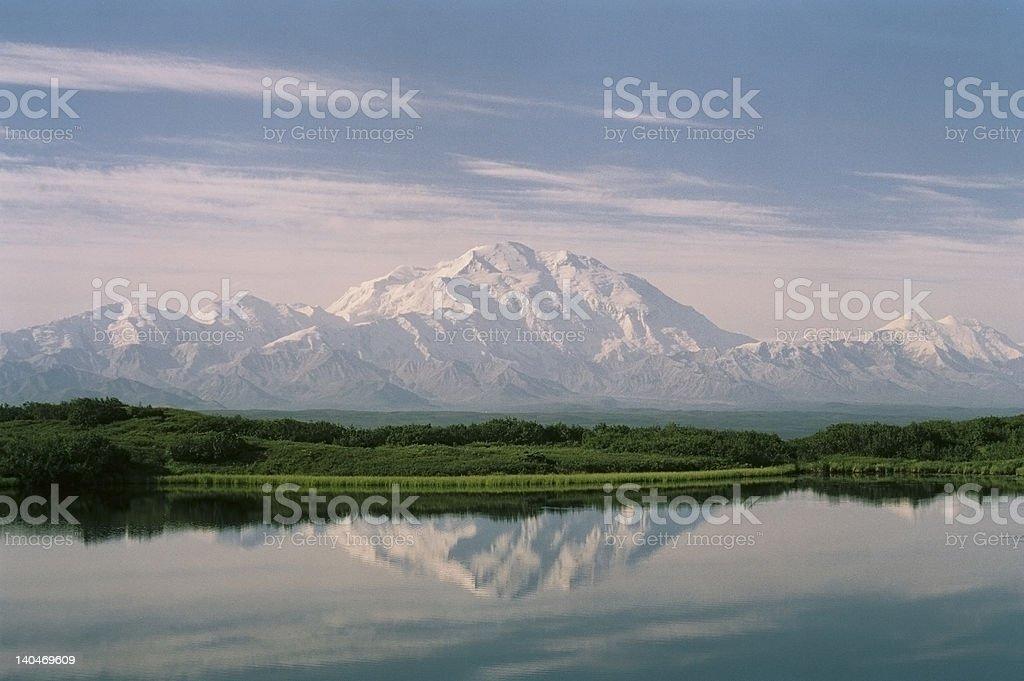 Denali Reflected stock photo