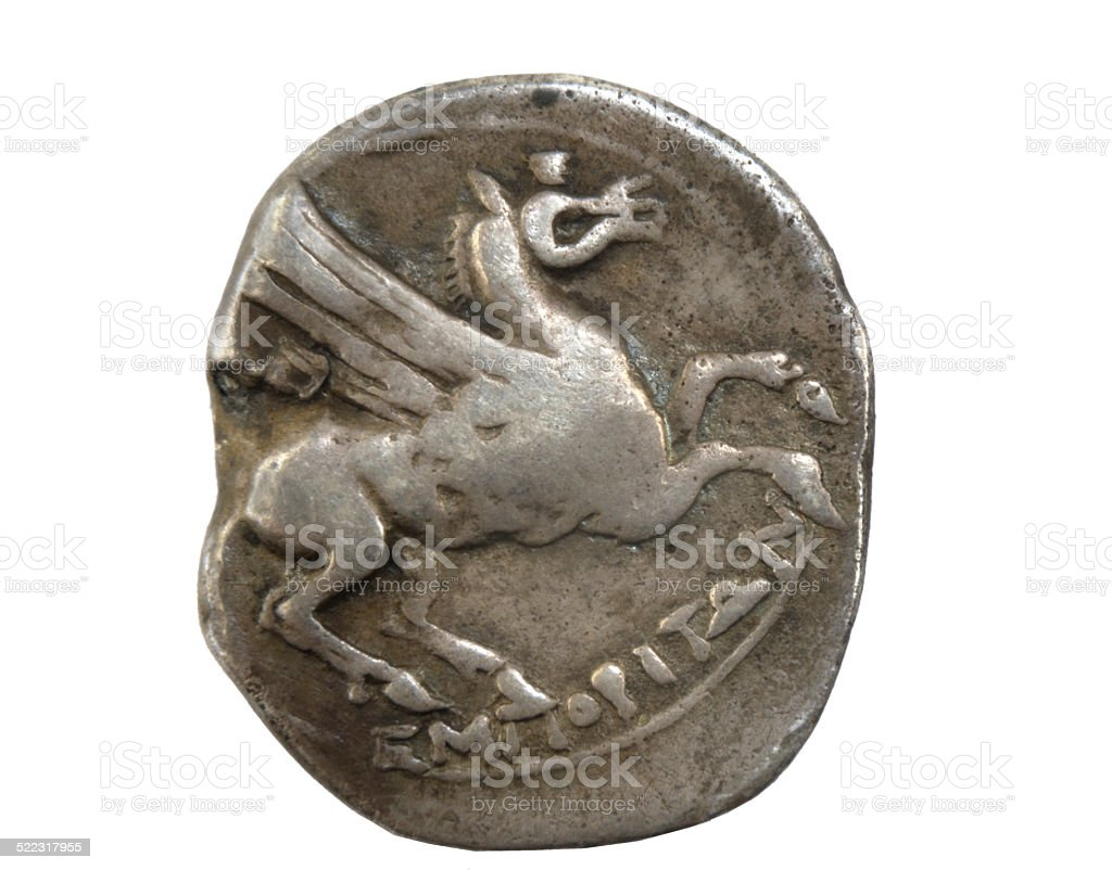 Denario, Roman moeda - foto de acervo
