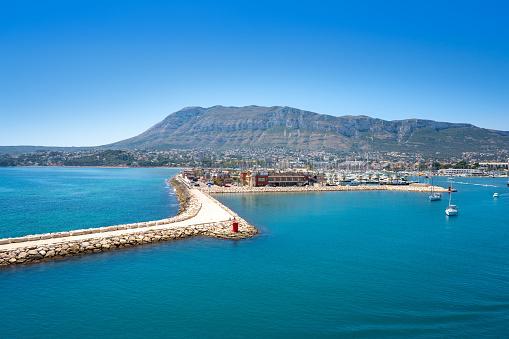 Denia skyline in Alicante of Mediterranean Spain