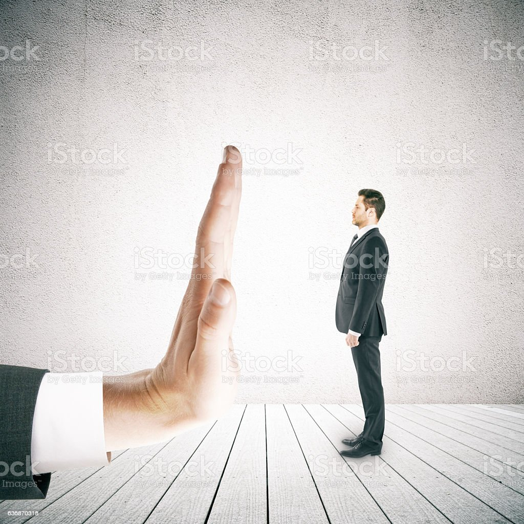 Denial concept stock photo