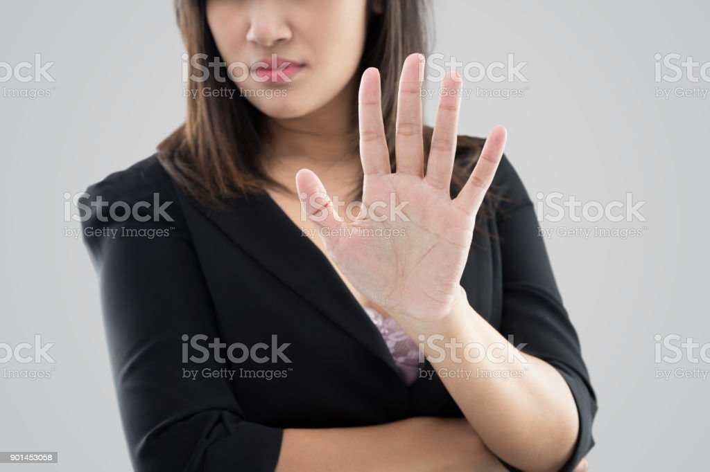 Denial stock photo