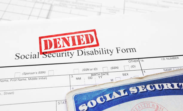 Denied Social Security disability application stock photo